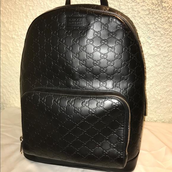 69cc400eb0c7 Gucci Bags | Signature Leather Backpack | Poshmark